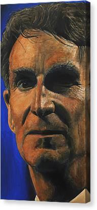 The Debater- Bill Nye  Canvas Print by Simon Kregar