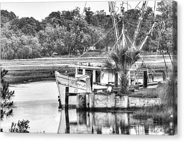 The Debbie-john Shrimp Boat Canvas Print by Scott Hansen