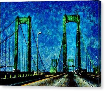 The Delaware Memorial Bridge Canvas Print by Angelina Vick