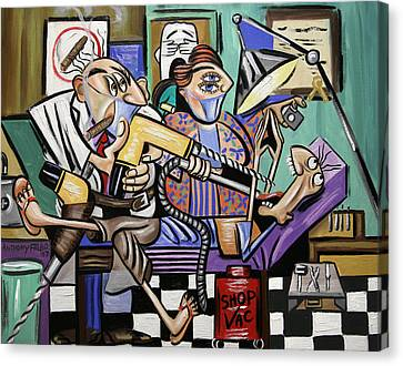 The Dentist Is In Root Canal Canvas Print by Anthony Falbo