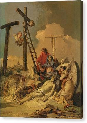 The Deposition Canvas Print by Giovanni Battista Tiepolo