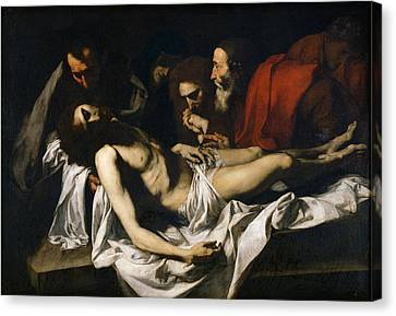 The Deposition Oil On Canvas Canvas Print by Jusepe de Ribera