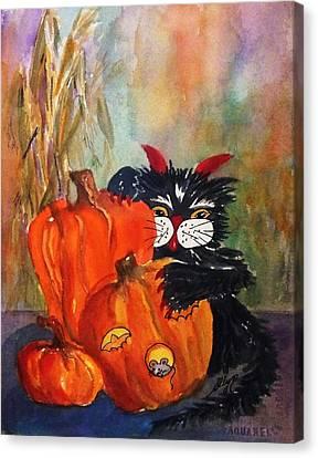 The Devil Made Me Do It Canvas Print by Ellen Levinson