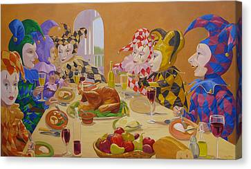 The Dinner Party Canvas Print by Leonard Filgate