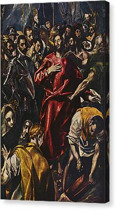 The Disrobing Of Christ Canvas Print by Celestial Images