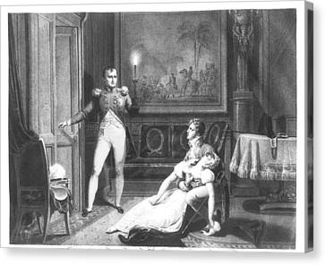 The Divorce Of Napoleon I 1769-1821 And Josephine Tascher De La Pagerie 1763-1814 30th November Canvas Print by Charles Abraham Chasselat