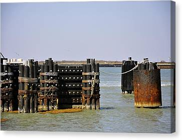 The Docks Canvas Print by Cherie Haines