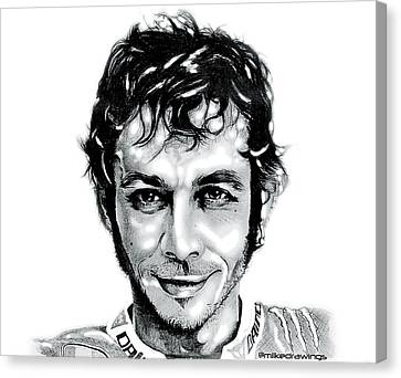 The Doctor Valentino Rossi Canvas Print by Mike Sarda