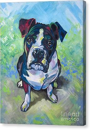 The Dog Canvas Print by Ellen Marcus