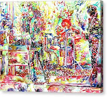 The Doors Live Concert Portrait Canvas Print by Fabrizio Cassetta