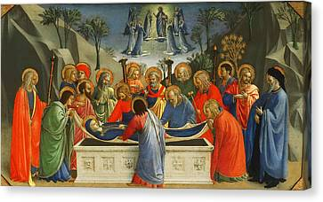The Dormition Of The Virgin Canvas Print by Fra Angelico
