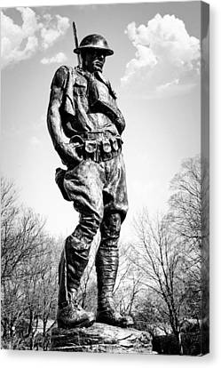 The Doughboy - Tribute To The American Expeditionary Forces Of World War 1 Canvas Print by Gary Heller