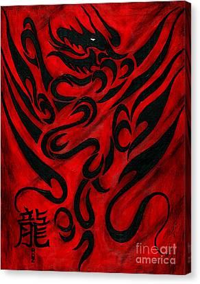 The Dragon Canvas Print by Roz Abellera Art