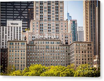 The Drake Hotel In Downtown Chicago Canvas Print by Paul Velgos