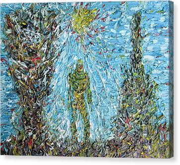 The Drama Of The Earth Canvas Print by Fabrizio Cassetta