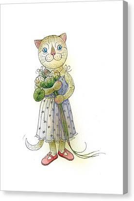 The Dream Cat 01 Canvas Print by Kestutis Kasparavicius