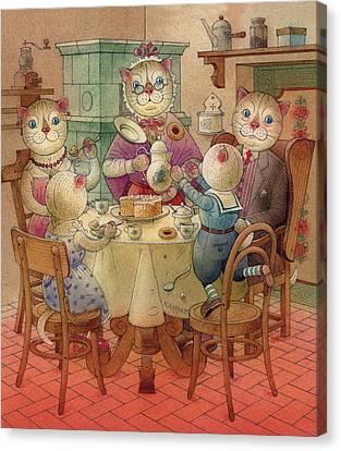 The Dream Cat 08 Canvas Print by Kestutis Kasparavicius