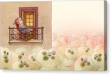 The Dream Cat 09 Canvas Print by Kestutis Kasparavicius