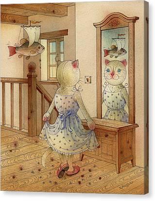 The Dream Cat 11 Canvas Print by Kestutis Kasparavicius