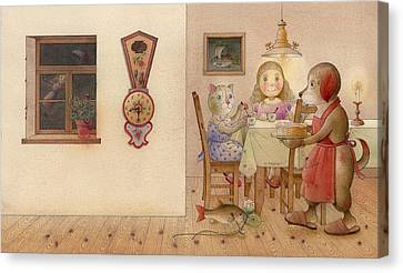 The Dream Cat 20 Canvas Print by Kestutis Kasparavicius