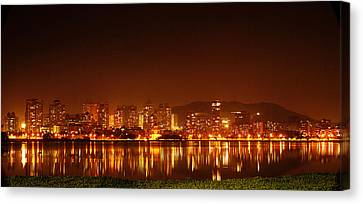 The Dream City - Mumbai Canvas Print by Money Sharma