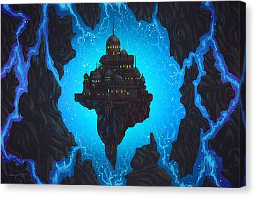 The Dream Fissure Canvas Print by Cassiopeia Art