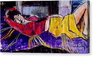 The Dream - Pia #4 - Figure Series Canvas Print by Mona Edulesco