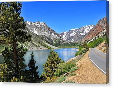 The Drive By Lundy Lake Canvas Print by Lynn Bauer