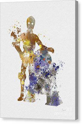 The Droids Canvas Print by Rebecca Jenkins