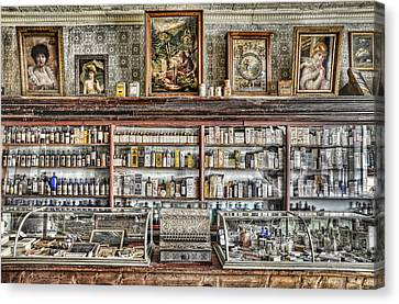 The Drug Store Counter Canvas Print by Ken Smith