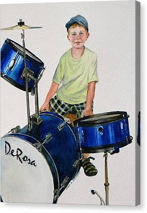 The Drummer Canvas Print by Karol Wyckoff