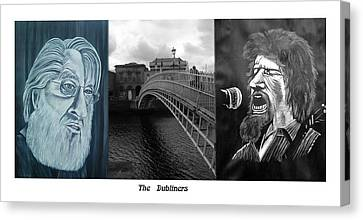 The Dubliners Canvas Print by Colin O neill