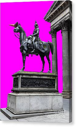 The Duke Of Wellington Cyan Canvas Print by John Farnan