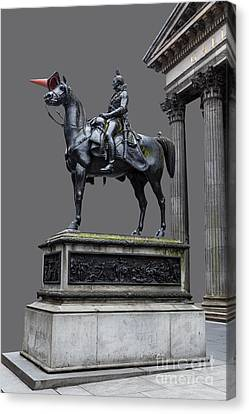The Duke Of Wellington Goma  Grey Canvas Print by John Farnan