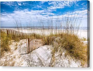 The Dunes Canvas Print by Debra and Dave Vanderlaan