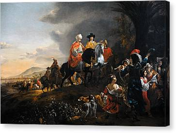 The Dutch Ambassador On His Way To Isfahan, C. 1653-1659, By Jan Baptist Weenix 1621-c.1659 Canvas Print by Bridgeman Images