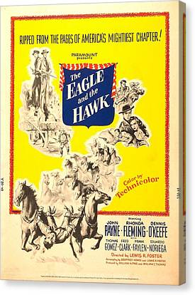 The Eagle And The Hawk, Us Poster, 1950 Canvas Print by Everett