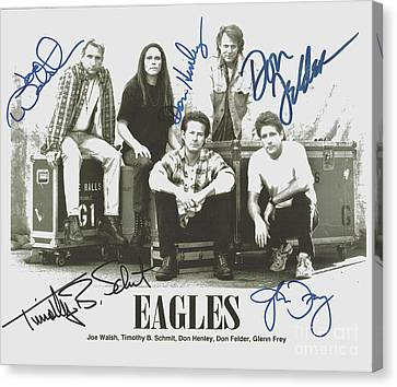 The Eagles Autographed Canvas Print by Desiderata Gallery