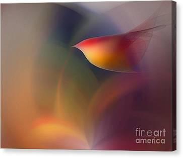 The Early Bird-abstract Art Canvas Print by Karin Kuhlmann