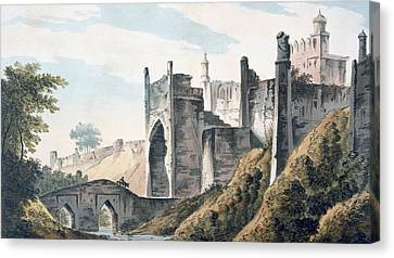 The East End Of The Fort Of Mongheer Canvas Print by William Hodges
