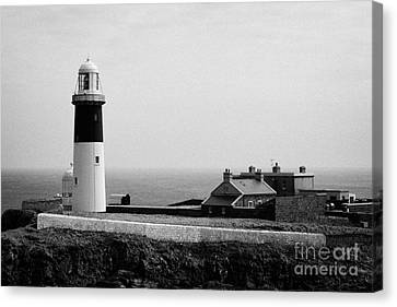 The East Light Lighthouse And Buildings Altacarry Altacorry Head Rathlin Island  Canvas Print by Joe Fox