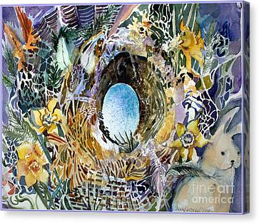 The Easter Bunny Canvas Print by Mindy Newman