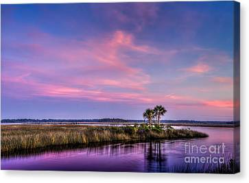 The Edge Of Night Canvas Print by Marvin Spates