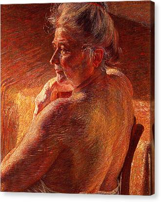 The Effect Of Sunlight Canvas Print by Umberto Boccioni