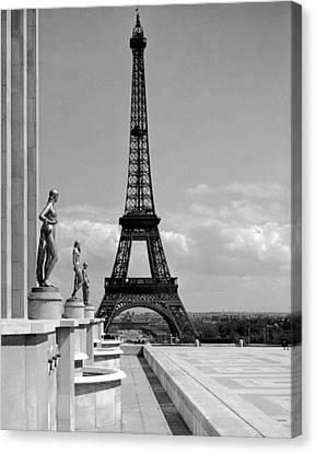 The Eiffel Tower Canvas Print by Underwood Archives