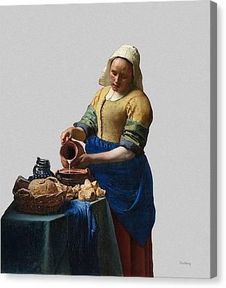 The Elegance Of The Kitchen Maid Canvas Print by David Bridburg