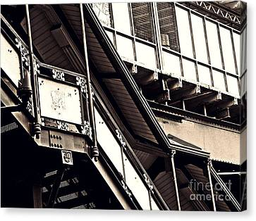 The Elevated Station At 125th Street 2 Canvas Print by Sarah Loft