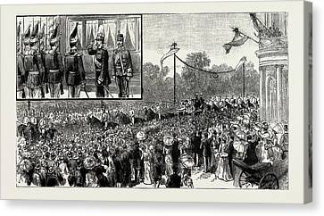 The Emperor Of Austrias Visit To Berlin Canvas Print by Litz Collection
