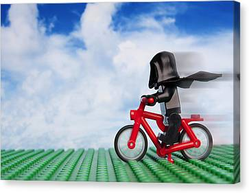 The Emperor's New Bike Canvas Print by Samuel Whitton