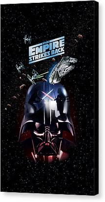 The Empire Strikes Back Phone Case Canvas Print by Edward Draganski